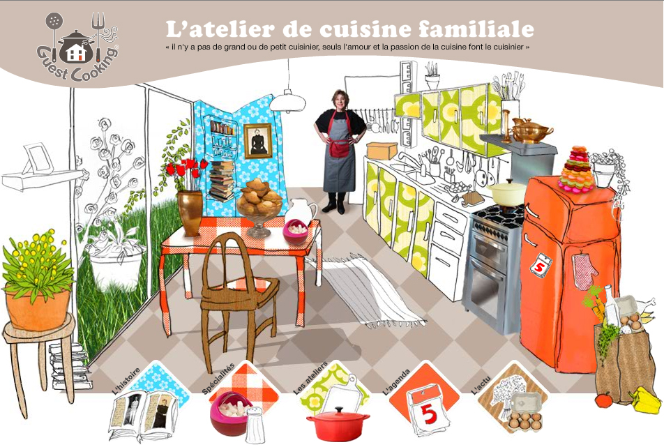 visitez mon site officiel guestcooking cours de cuisine. Black Bedroom Furniture Sets. Home Design Ideas